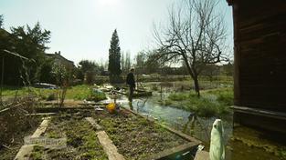 Garten voller Pfützen (Foto: SR)