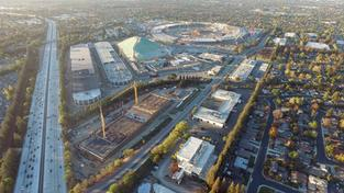 Baustelle des neuen Apple Campus in Cupertino im Silicon Valley  (Foto: dpa / picture alliance / Duncan Sinfield)
