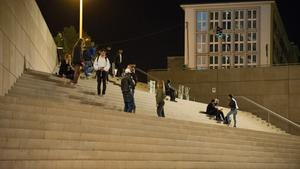 Treppe an der Berliner Promenade bei Nacht (Foto: Pasquale D'Angiolillo)