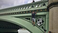 Parkour an der Westminster Bridge (Foto: Carsten Haider)