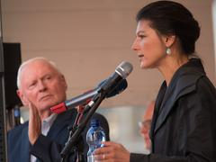 Oskar Lafontaine und Sahra Wagenknecht (Foto: Pasquale D'Angiolillo)