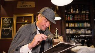 Olaf Maurer im Sherlock-Holmes-Outfit (Foto: Pasquale D'Angiolillo)