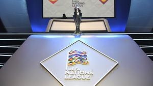 Die Trophäe der UEFA Nations League (Foto: dpa)