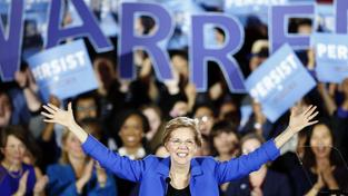 Elizabeth Warren, demokratische Senatorin und Kandidatin für die Demokraten in Massachusetts (Foto: picture alliance/Michael Dwyer/AP/dpa)